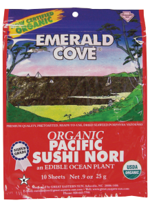 Emerald Cove Organic Pacific Sushi Nori 10 Sheet