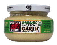 Emperor's Kitchen Organic Chopped Garlic 4.5 oz