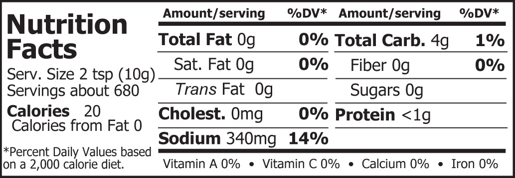 Miso Master Organic Chickpea Miso Nutrition Facts 15 lbs