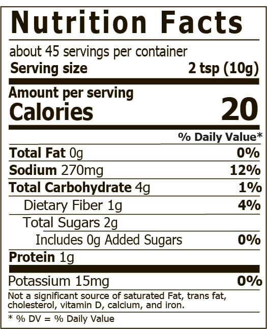 Miso Master Organic Chickpea Miso Nutrition Facts 16 oz