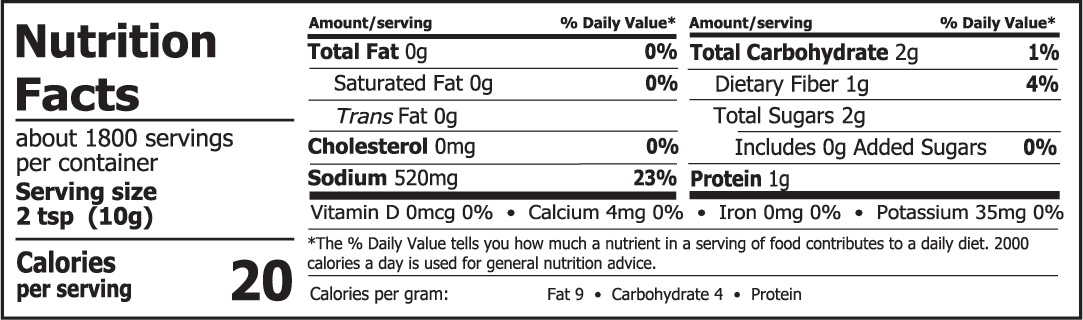 Miso Master Organic Country Barley Miso Nutrition Facts 40 lbs