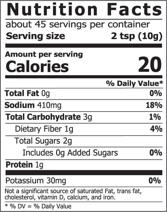 Miso Master Organic Traditional Red Miso Nutrition Facts 16 oz