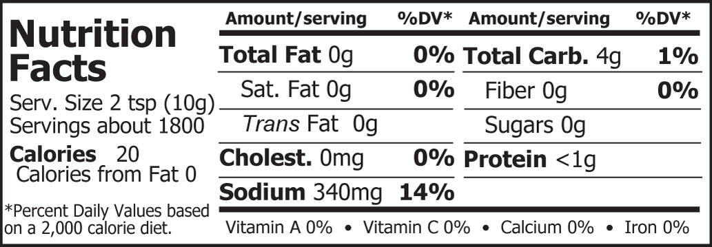 Miso Master Organic Chickpea Miso Nutritional Facts 40 lbs