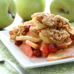 French Apple Crisp sweetened with Sweet Cloud® Organic Brown Rice Syrup