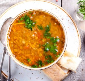 Miso Lentil Soup with Miso Master Organic Country Barley Miso