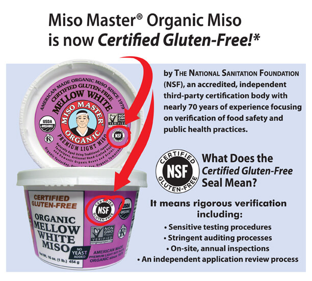Miso Master Miso is Now Gluten-Free
