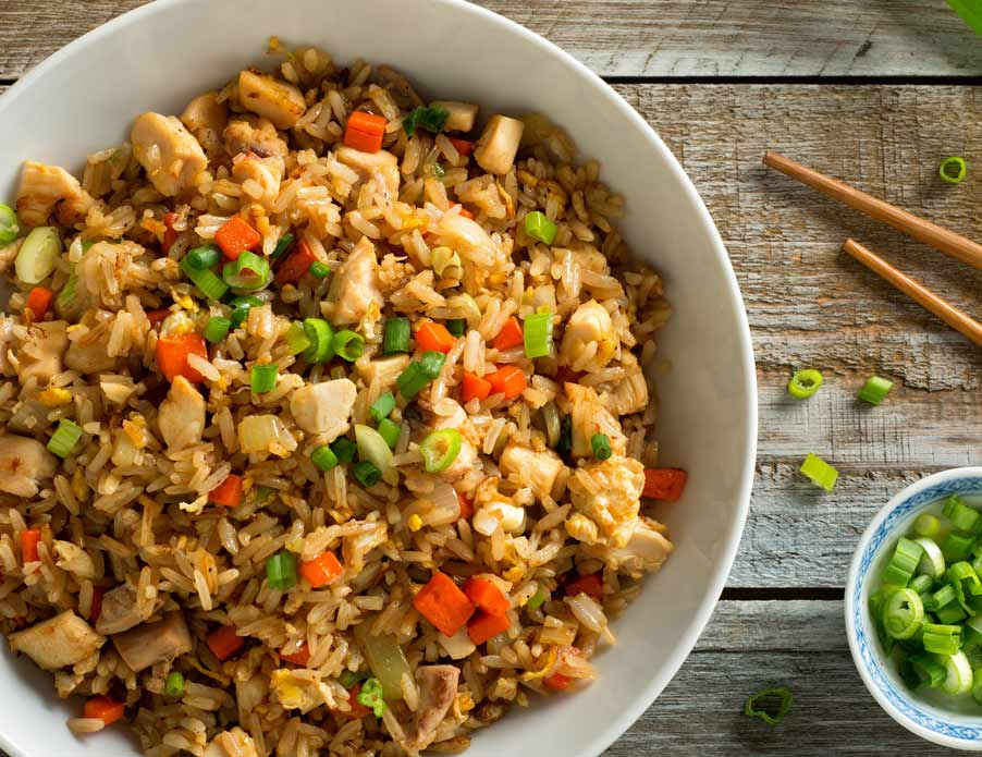Ginger Fried Rice recipe with Emperor's Kitchen Organic Shiitake Mushrooms