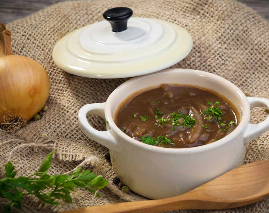 Onion Soup with Emperor's Kitchen Organic Shiitake Mushrooms