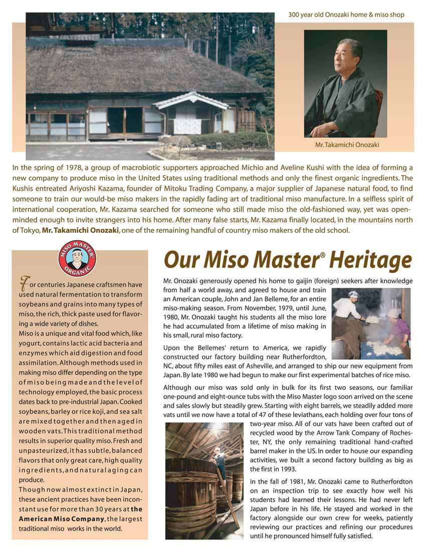 Miso Master Miso Our Miso Heritage