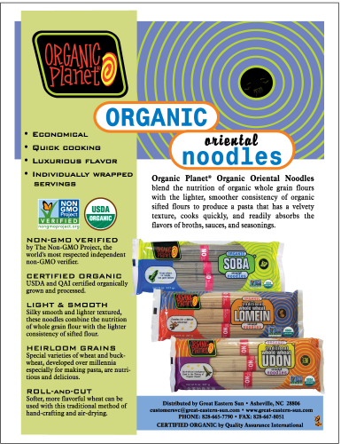 Organic Planet Organic Noodles Flyer