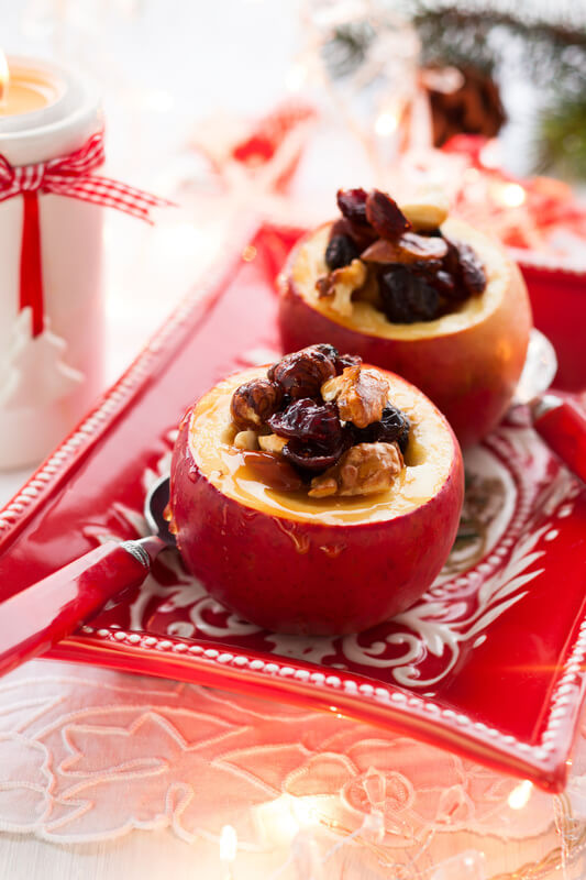 Baked Stuffed Apples with Miso Master Organic Sweet White Miso
