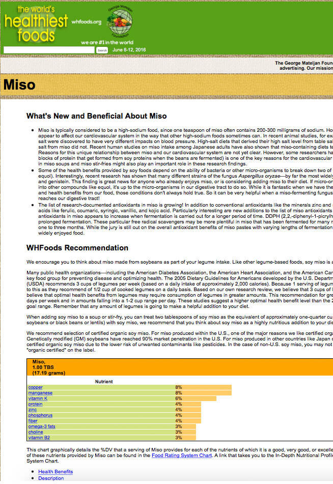 Miso One of the World's Healthiest Foods