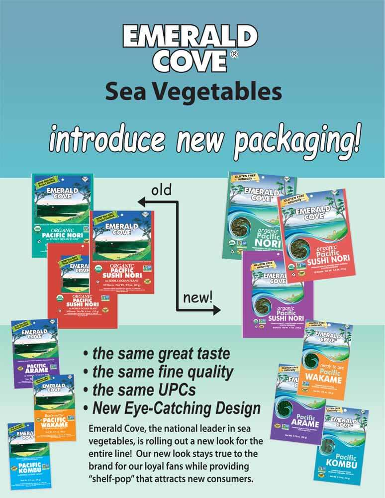 New Packaging for our Emerald Cove Sea Vegetables