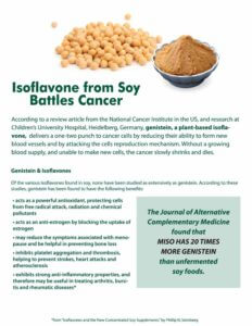Isoflavone From Soy Battles Cancer Study