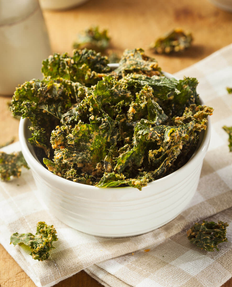 Miso Kale Chips with Miso Master Mellow White Miso