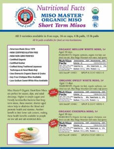 Miso Master Short Term Miso Nutritional Facts