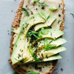 Miso-Tahini Avocado Toast with Black Sesame Gomashio