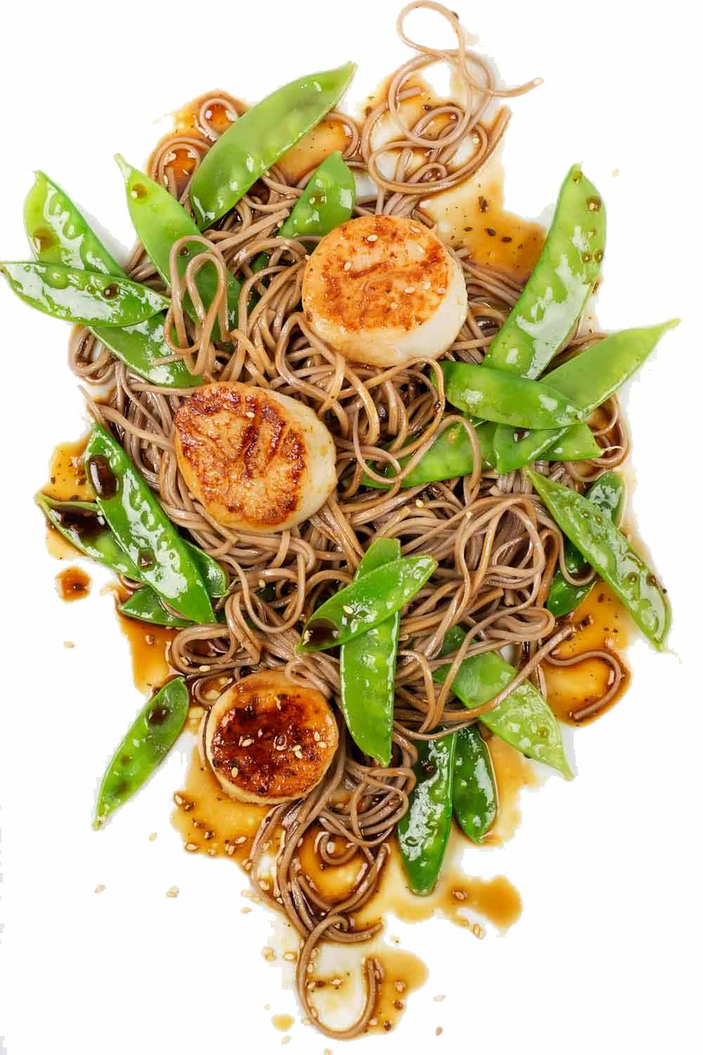 Scallops with Soba Noodles recipe
