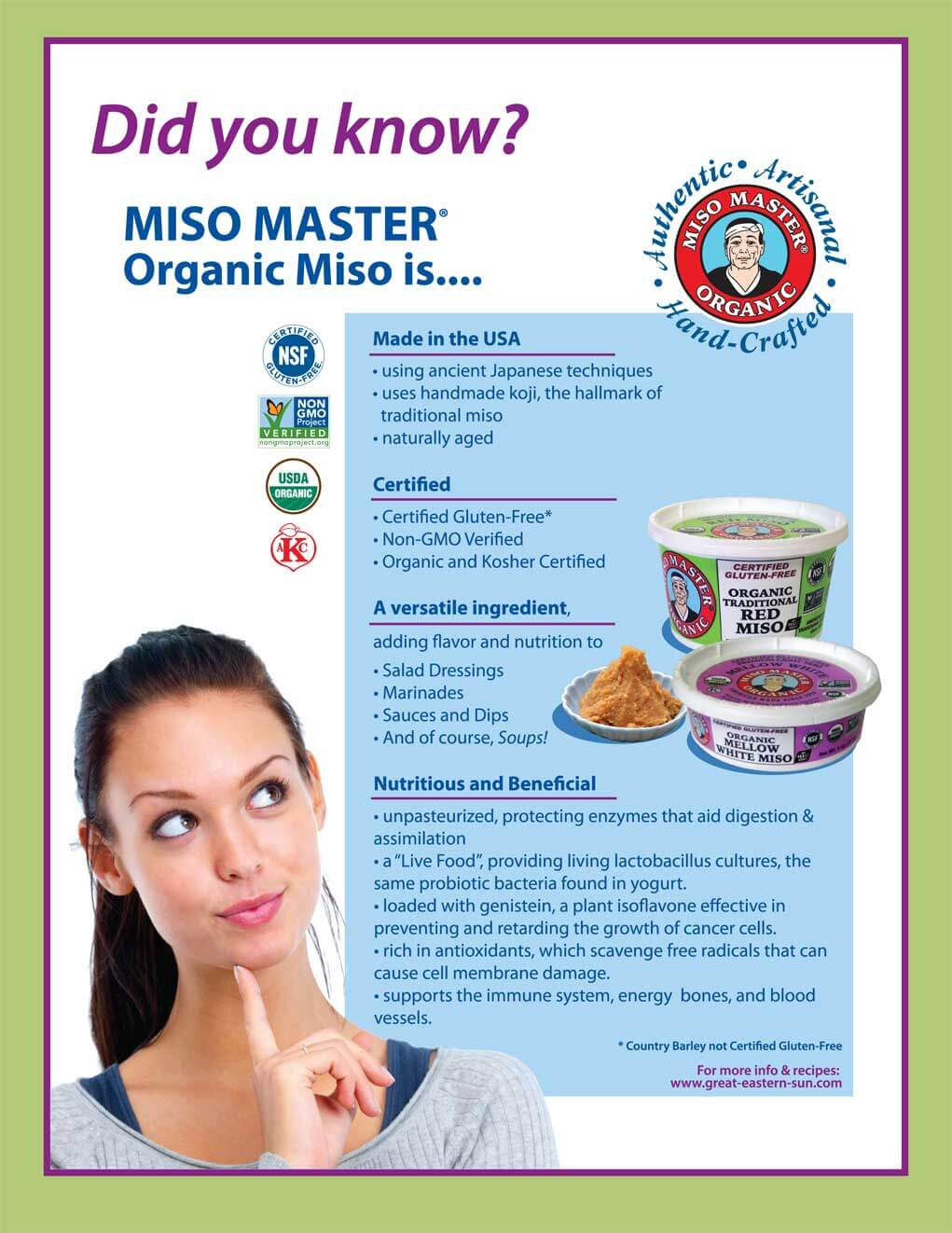 Miso Master Did you know? Flyer
