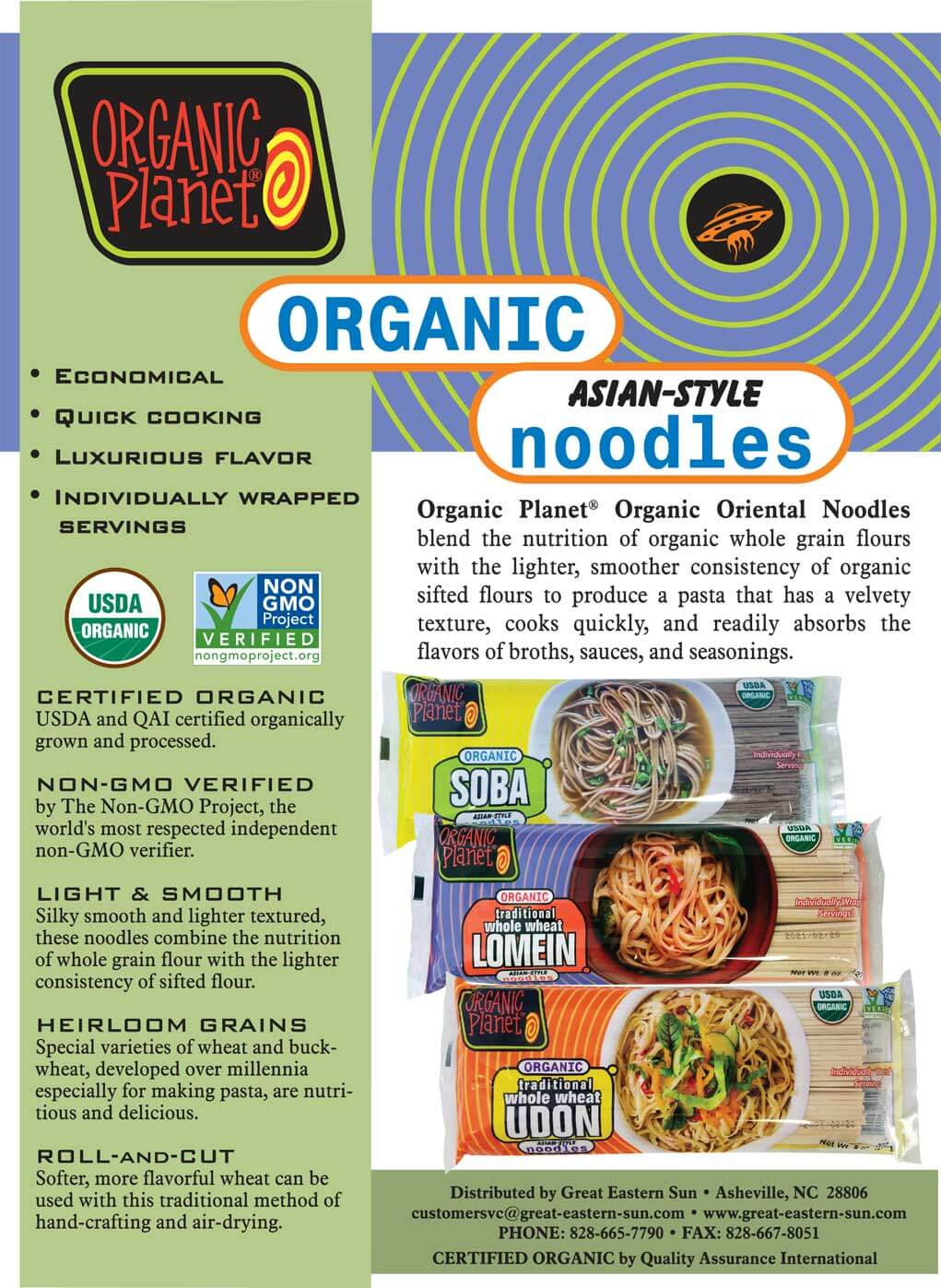 Organic Planet Organic Asian-Style Noodles Flyer