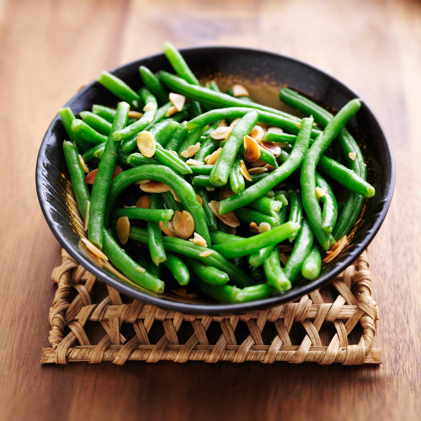 Recipe for Green Bean Almondine made with Miso Master Organic Chickpea Miso