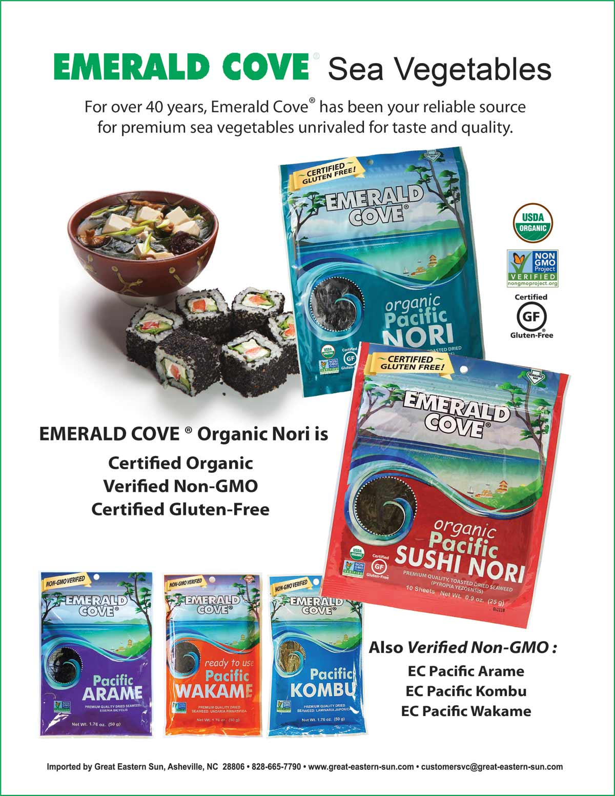 Emerald Cove Sea Vegetables Flyer