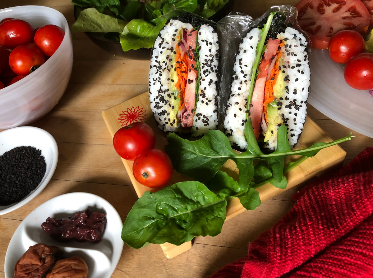 Onigirazu Sushi Sandwiches made with Emerald Cove Organic Sushi Nori