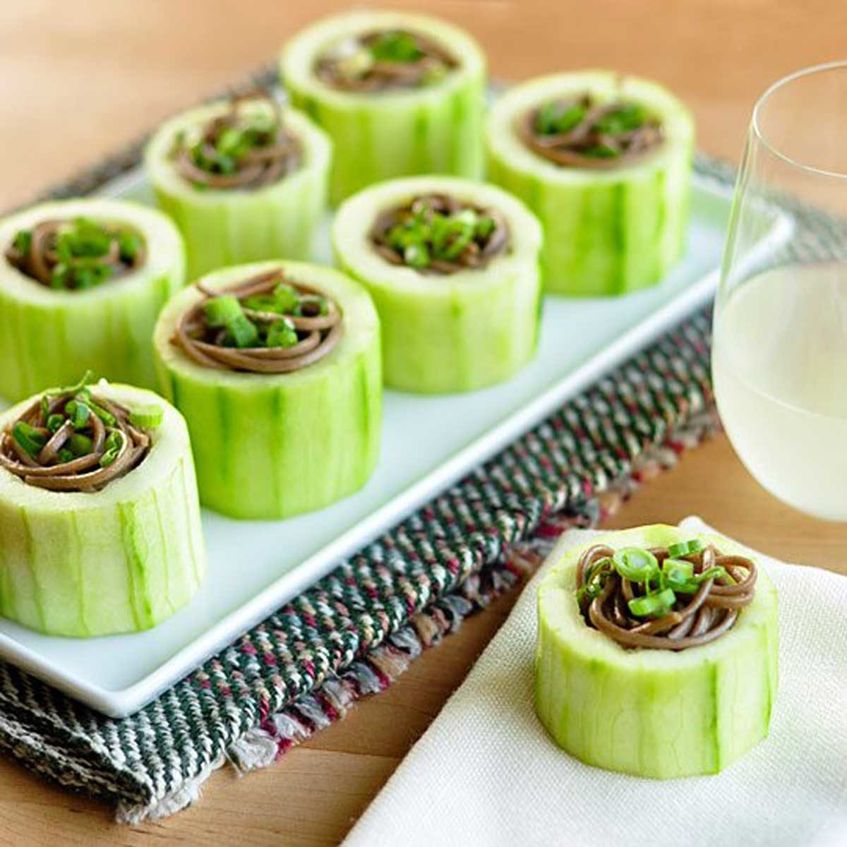 chilled-soba-in-cucumber-cups