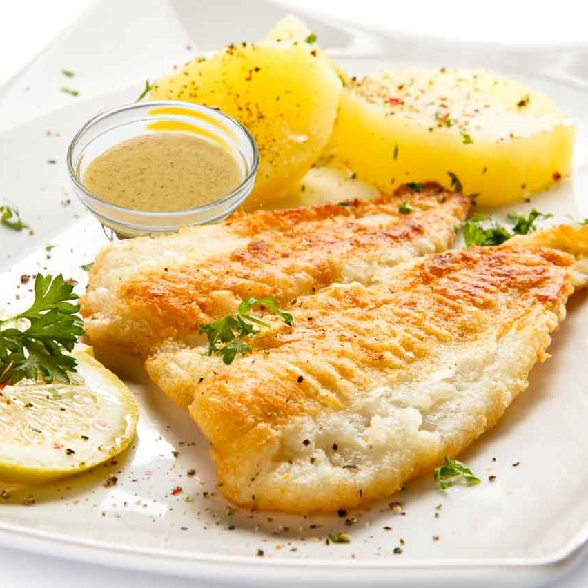 Lemon Mustard Broiled Flounder