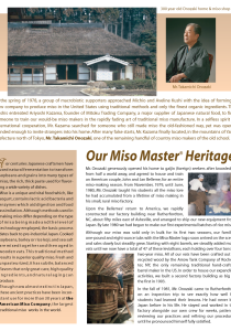 Our Miso Master Miso Heritage Flyer page 1