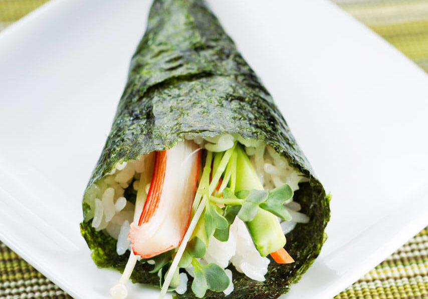 Stuffed Nori Cones with Emerald Cove® organic sushi nori